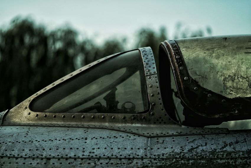 China Photos Airforce Flight Canopy Old Plane Ribet Atmospheric Mood Mode Of Transport Close-up Focus On Foreground Deterioration Damaged Outdoors Journey Obsolete Day The Past Display Streamzoofamily The Photojournalist - 2017 EyeEm Awards