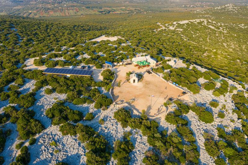 Viewpoint kamenjak in vransko lake nature park, croatia