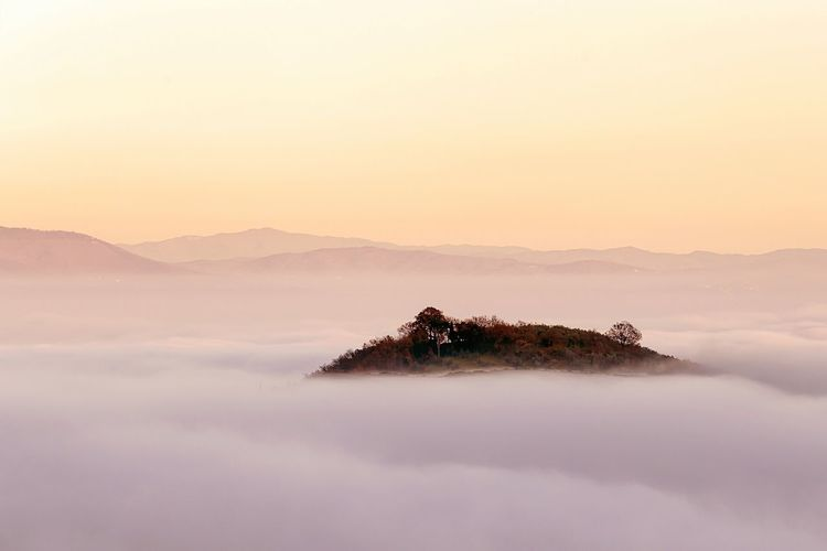 Fog Landscape Beauty In Nature Claudyday Sunset Tuscany Tuscany Landscape