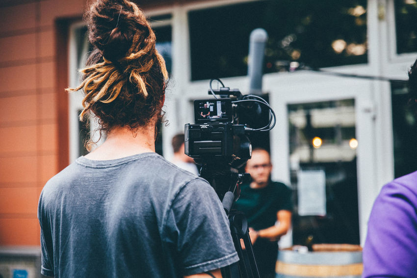 Camera Camera - Photographic Equipment Camera Operator Dreadhead Filming Real People Young Adult