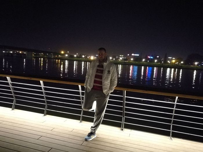 Night One Person City Outdoors Huaweiphotography HuaweiP9 Belgrade,Serbia Looking At Camera Water Reflection River Nightview Nightout Adaidas Asics Gel Lyte III