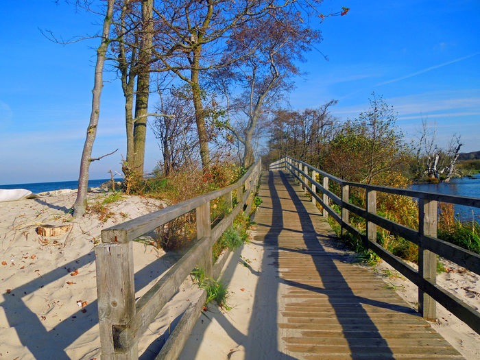 Boardwalk Over Baltic Sea Against Sky