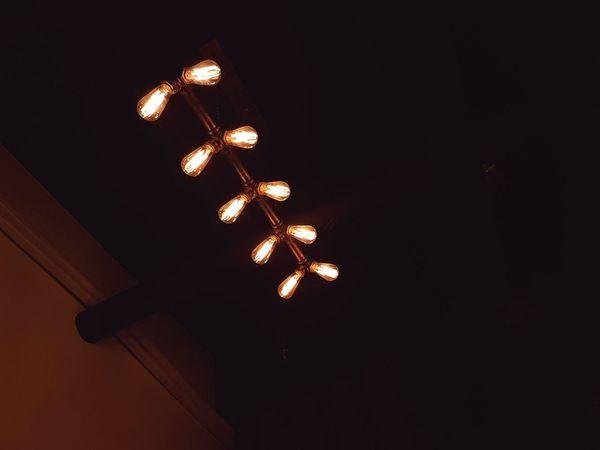 Illuminated Lighting Equipment Dark No People Electricity  Night Low Angle View Light Bulb Close-up Indoors