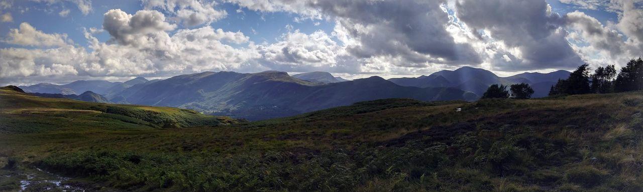 Mountain Landscape Panoramic Outdoors Derwent Water Lake District