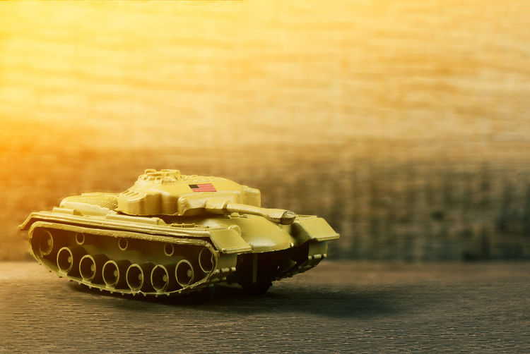 Close-Up Of Toy Armored Tank