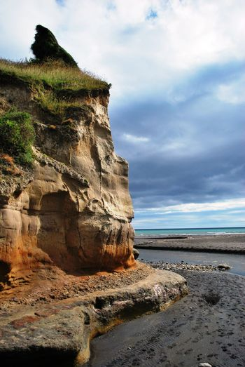 Beach Beauty In Nature Cloud - Sky Day Geology Horizon Over Water Landscape Nature No People Outdoors Rock - Object Sand Scenics Sea Sky Taranaki Coastline Tranquil Scene Tranquility Water