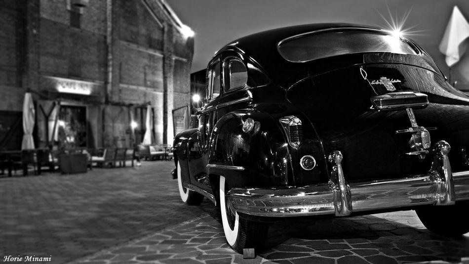 Retro Car EyeEmNewHere EyeEm Best Shots Black & White Black And White Blackandwhite No People Night