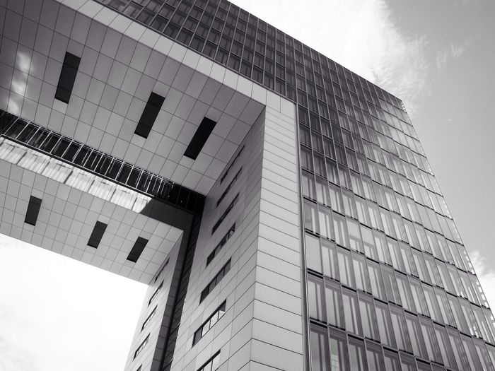 Architecture Building Exterior Built Structure Low Angle View Rheinauhafen Architecture Photography Cologne , Köln,  Blackandwhite Walking EyeEm Best Shots Modern Skyscraper Day Sky City Outdoors No People Corporate Business