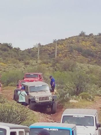 Outdoors Day People Only Men Nature Falken Tire Trail Ride Arizona Phoenix Jeep Off-road Vehicle 4x4 Land Vehicle Mode Of Transport Transportation