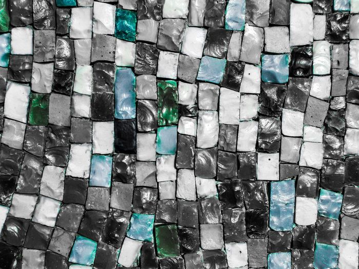 Mosaic Textures and Surfaces Smalto Smalt Full Frame Backgrounds Abundance Large Group Of Objects No People Pattern Close-up Day