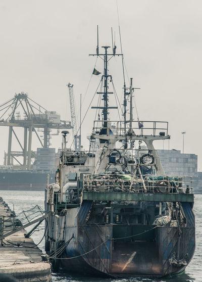 Port on Dakar Boat Commercial Dock Harbor Harbor Harbour Port Reportage Ship Streetphotography
