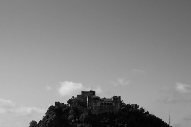 Fort on hill against sky