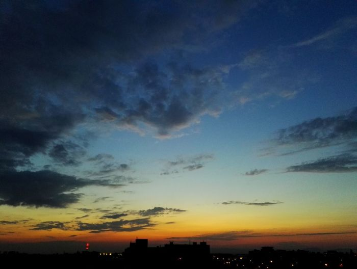 Sunset Multi Colored Blue Dusk Dramatic Sky Sky Landscape Cloud - Sky Sky Only Heaven Cloudscape EyeEmNewHere