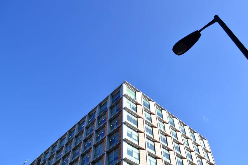 Sky Daylight Day Blue Sky Blue London Southwark  Southbank Perspective Street Street Light Bank Holiday