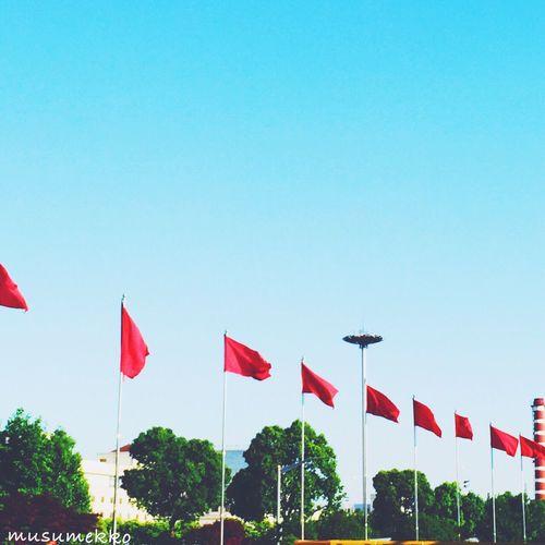 shot in Shanghai 2015.5.21 Travel Shanghai Hongqiao Airport Landscape Hello World Nature_collection Landscape_collection EyeEmNatureLover EyeEm Best Shots EyeEm Gallery Blue Sky Redandblue 旅行 思い出 青空 青と赤 Shanghai, China 上海 Hongqiao