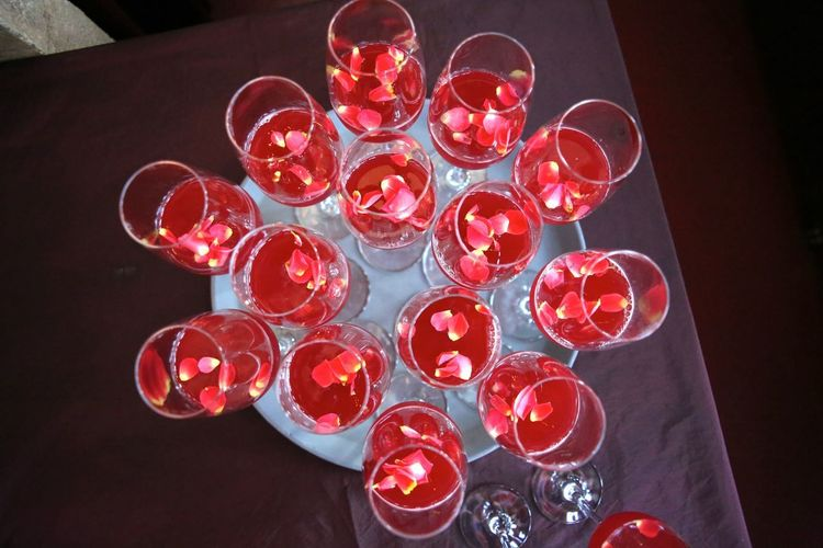 Abundance Celebration Choice Close-up Collection Decoration Directly Above Drinking Glass Food And Drink Glass Group Group Of Objects High Angle View Indoors  Large Group Of Objects No People Red Still Life Table Variation