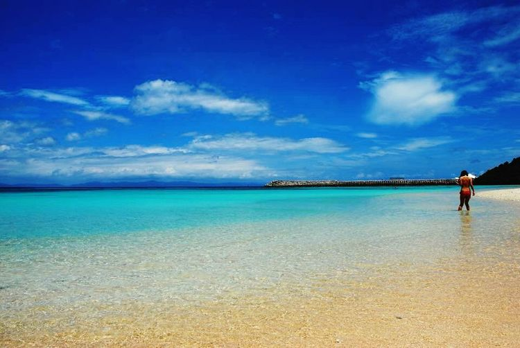 heaven's beach in Japan!! Haterumajima Beach Relaxing Beautiful Sea Okinawa