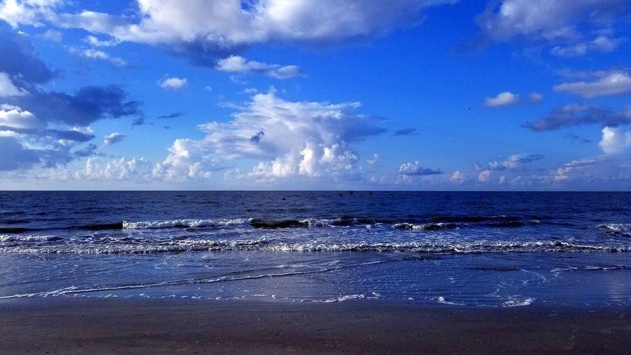 Hilton Head Hilton Head Island, SC Waves Beautiful Morning View Water Sea Beach Blue Wave Sky Horizon Over Water Seascape Ocean Calm