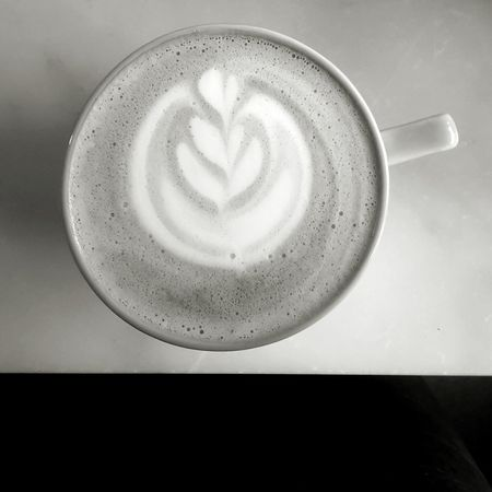 Drink Coffee - Drink Coffee Cup Frothy Drink Cappuccino Directly Above High Angle View Cafe Froth Art Indoors  Close-up Coffee Club Barista Life Flatwhite Black And White Black And White Photography Blackandwhite