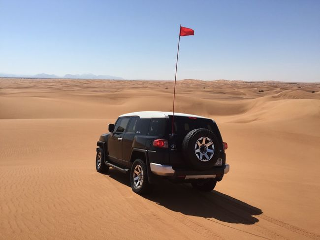 Motorsport Sand Jeep Wrangler  Tourism Deserts Around The World UAE Horizon Dubai Desert Offroad Jeep Car Sky