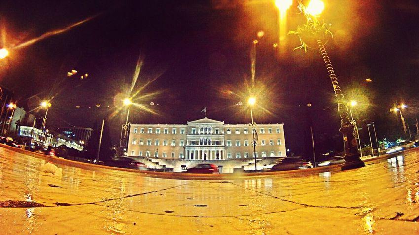 Greek Parliament Taking Photos Hello World Athens