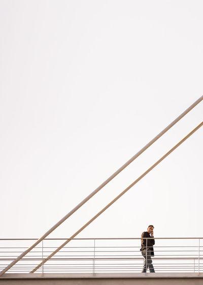 Full length of man against clear sky