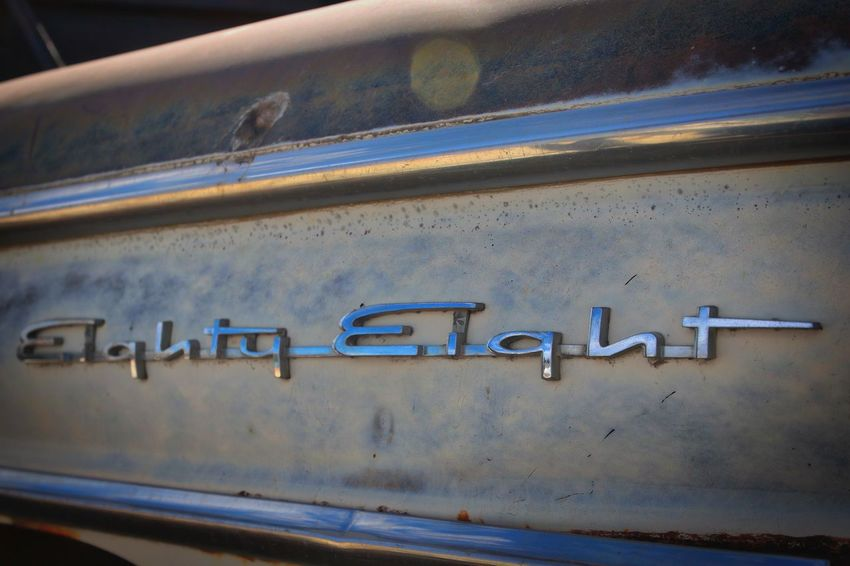 88 Chrome Close-up Copy Space Day Decal Eighty Eight Lines No People Old Car Outdoors Retro Transportation Vintage Vintage Car