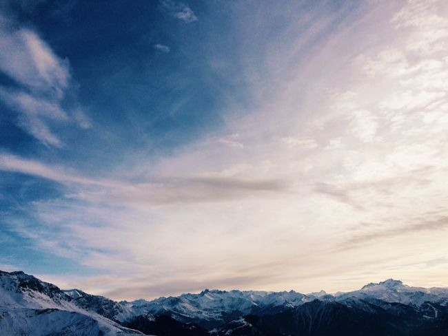 Snow Winter Mountain Mountain Range Sky Landscape Ski Trip Clouds