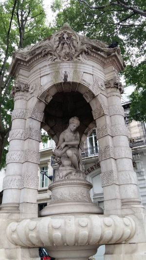 Bordeaux Tourny Fondaudege Statue Low Angle View Sculpture Human Representation Art And Craft Tree Monument Stone Material Architectural Column No People Battle Of The Cities France My Year My View