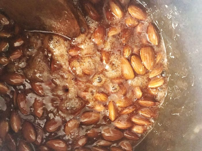 Roasting Almonds Roasted Almonds Food Cooking Preparation  Preparing Food Food And Drink Close-up Freshness Brown Ingredient