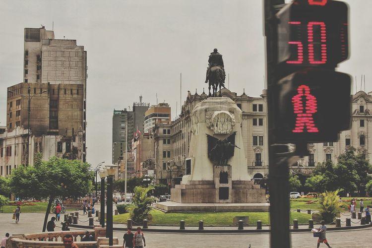 Plaza San Martin City Cityscape Sculpture Statue Skyscraper King - Royal Person History Architecture Sky Building Exterior