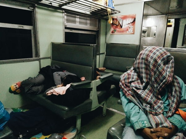 How many people in this picture? On The Train Chiangmai,Thailand Cheaper Way Viaggio Asain South Asian Culture