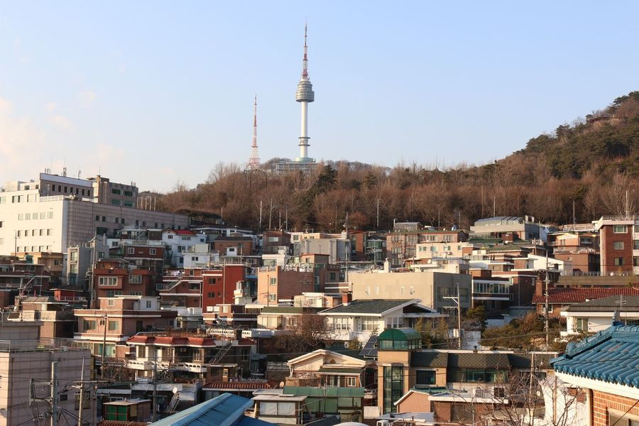Architecture Building Exterior City Tower Built Structure Communication Cityscape Sky Outdoors Residential Building Travel Destinations Day Dome No People Broadcasting Seoul, Korea Seoul Seoul Tower