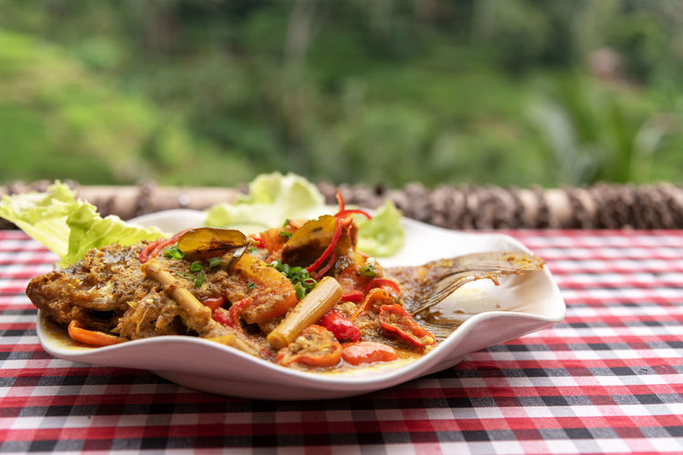 Food And Drink Food Ready-to-eat Plate Freshness Balinese Culture Indonesian Food Mujair Tilapia Spicy Hot Sauce Asian Food