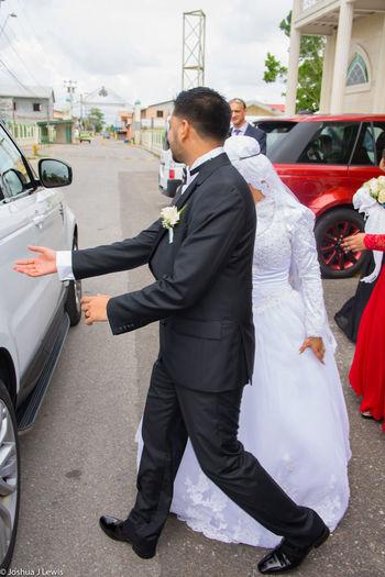 Beautiful Caribbean Trinidad And Tobago Muslimwedding Stillife Life Events Religion Wedding Dress Togetherness Happiness Couple - Relationship Husband Love Car