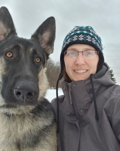 My horse! 😉🤣😂 Warm Clothing Pets Portrait Friendship Dog Winter Smiling Looking At Camera Bonding Happiness German Shepherd Knit Hat Posing Pet Owner Purebred Dog Winter Coat Hazel Eyes  Snow Covered