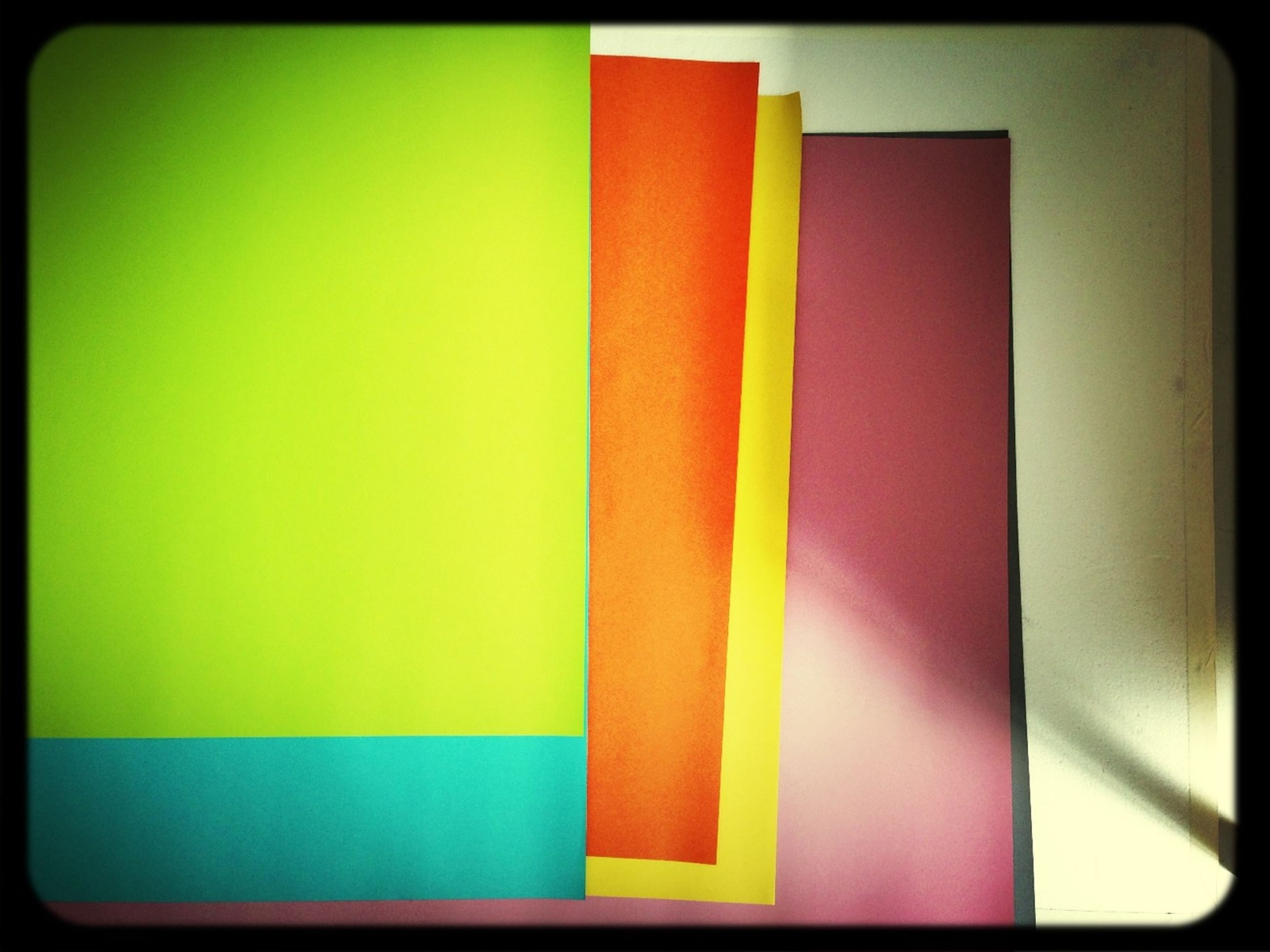 transfer print, auto post production filter, indoors, multi colored, close-up, pattern, still life, wall - building feature, yellow, no people, colorful, red, in a row, striped, textile, wall, copy space, white color, art and craft, variation