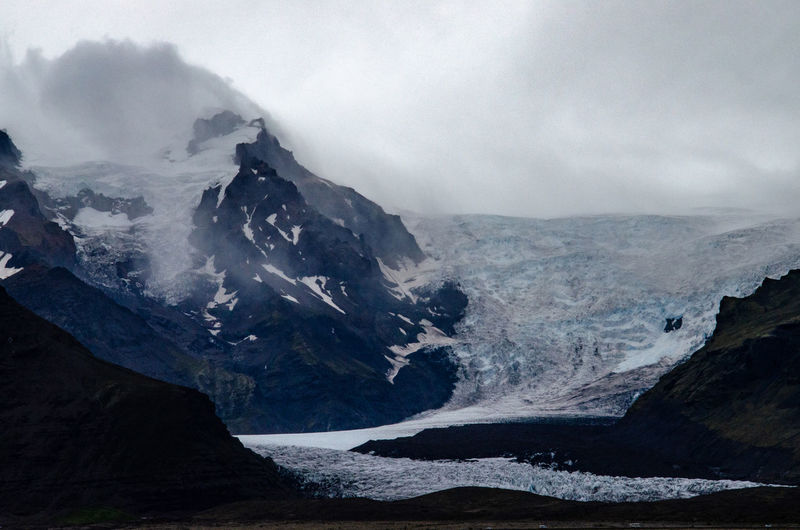 Part of the skaftafell glacier, iceland.