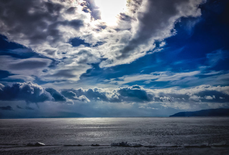 Blue Clouds And Sky Lake View Байкал озеро 四月 贝加尔湖
