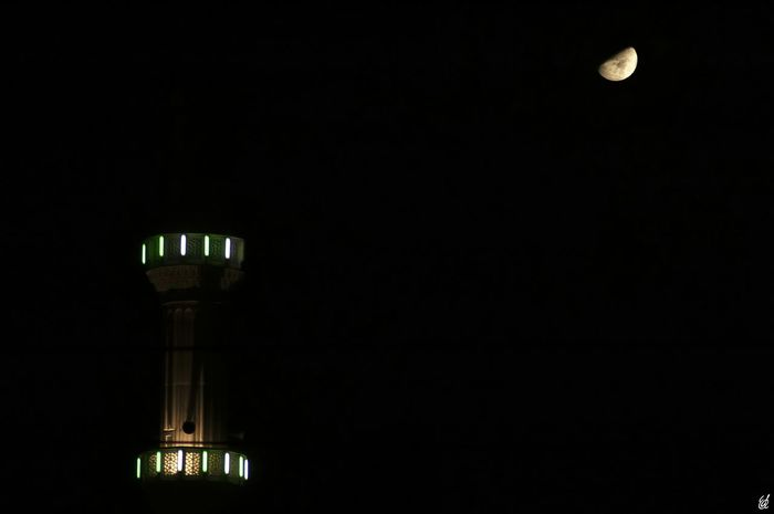 Night Photography Moon Mosque Istanbul City Photooftheday Black