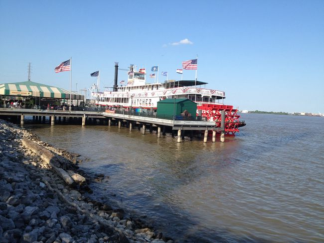 Architecture Blue Built Structure Day Mississippi River Natchez Nature New Orleans No People Outdoors Pole Rippled Riverboat Sky Tourism Travel Destinations Water