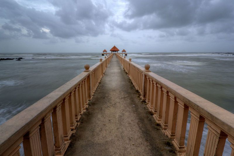 Scenic View Of Pier Over Sea