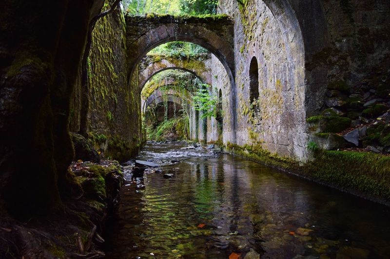 Factory of weapons of Eugui (Navarra) Landscape River Water Reflection Arch No People Architecture Nature Day Outdoors Rocks Stone Wall Building Exterior Forest Trees Moss Navarra Eugui