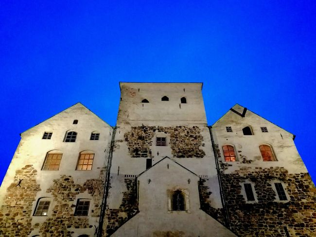 EyeEm Best Shots Taking Photos Photography Capture The Moment From My Point Of View Beautiful Tranquility Eyeemphotography Finland Turku Castle, Finland Medieval Medieval Architecture History Historical Building Travel Destinations Blue Sky Blue Color Old Old Buildings Castle EyeEm Photo Architecture Built Structure Blue Building Exterior Low Angle View No People Outdoors Sky