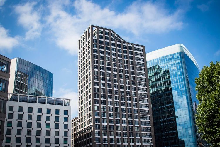 London Architecture Architecture Built Structure Building Exterior City Building Sky Modern Office Building Exterior Low Angle View Cloud - Sky Tall - High Skyscraper Day Office No People Financial District  Outdoors Tower Residential District