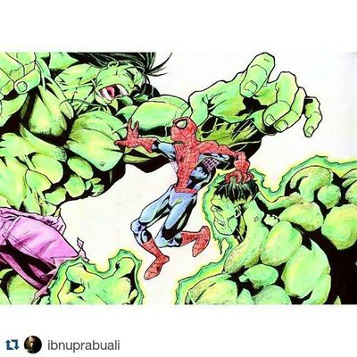 Repost @ibnuprabuali with @repostapp ・・・ Another skecth that i made years ago. I used to drawing sketches when i was in college, now i've just too busy with my job. Hulk Spiderman Marvel Comic Art Drawing Comic BruceBanner Peterparker IncredibleHulk Amazingspiderman Illustration Drawing Draw Picture Artist Sketch Sketchbook Paper Pen Pencil Artsy Instaart Gallery masterpiece creative instaartist graphic graphics