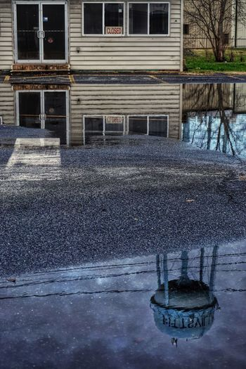 Closed Reflection Water Reflections Puddleography Puddle Water Water Tower Small Town Feel Rural Scenes Maryland
