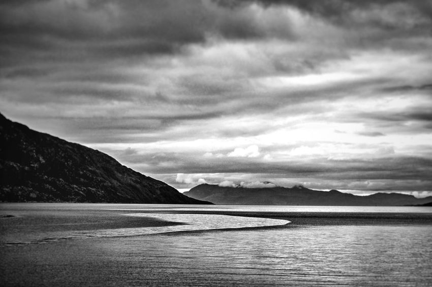 Mountain Nature Scenics Sky Sea Water Tranquil Scene Cloud - Sky Tranquility Beauty In Nature Outdoors No People Mountain Range Day Natural Beauty Scottish Highlands Scotland Loch Nevis Knoydart Tranquility B&w