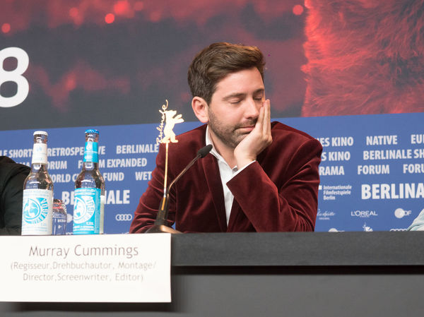 Berlin, Germany - February 23, 2018: English writer and director Murray Cummings attends the 'Songwriter' press conference at 68th Berlinale International Film Festival Berlin 2018 Famous Film Festival Interview Premiere Press The Media Berlinale Berlinale 2018 Berlinale Festival Berlinale2018 Berlinale68 Director Documentary Documentary Film Festival Film Director Film Industry Front View Frontal View Mass Media Murray Cummings One Person People Press Conference Songwriter