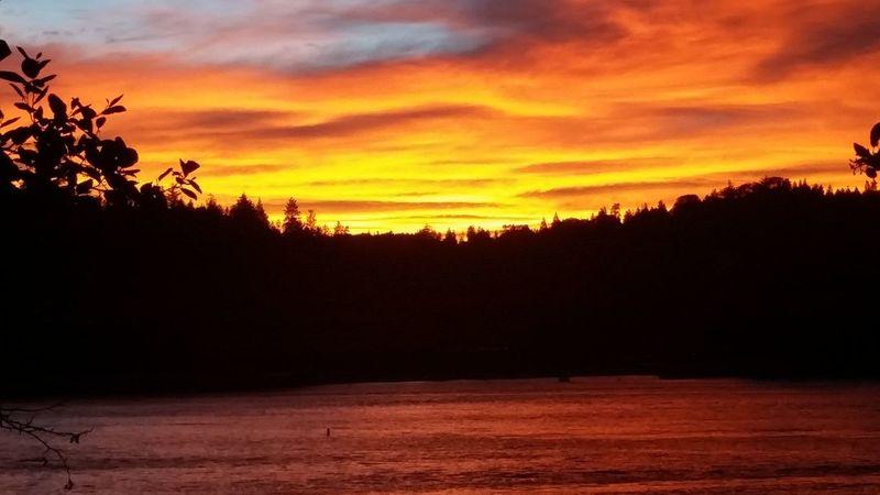 Arrowhead Sunset Warm Colors Mountain Lake Inspiration